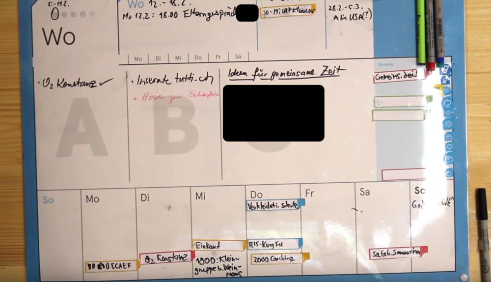 Das weekboard von weekview im Einsatz (Bild: Alin Christoph Cucu)