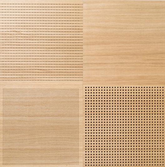 Akustikplatten aus echtem Holzfurnier gibt es in allen gewünschten Formaten.