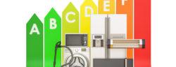 Energieeffizienztabelle mit Haushaltsgeräten