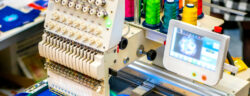 Embroidery,Machine.,Embroidery,Machine,With,Computer,Control.,Industrial,Embroidery,Equipment.