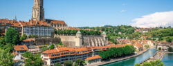 Scenic,Bern,Old,Town,Cityscape,With,Old,Buildings,Bern,Minster